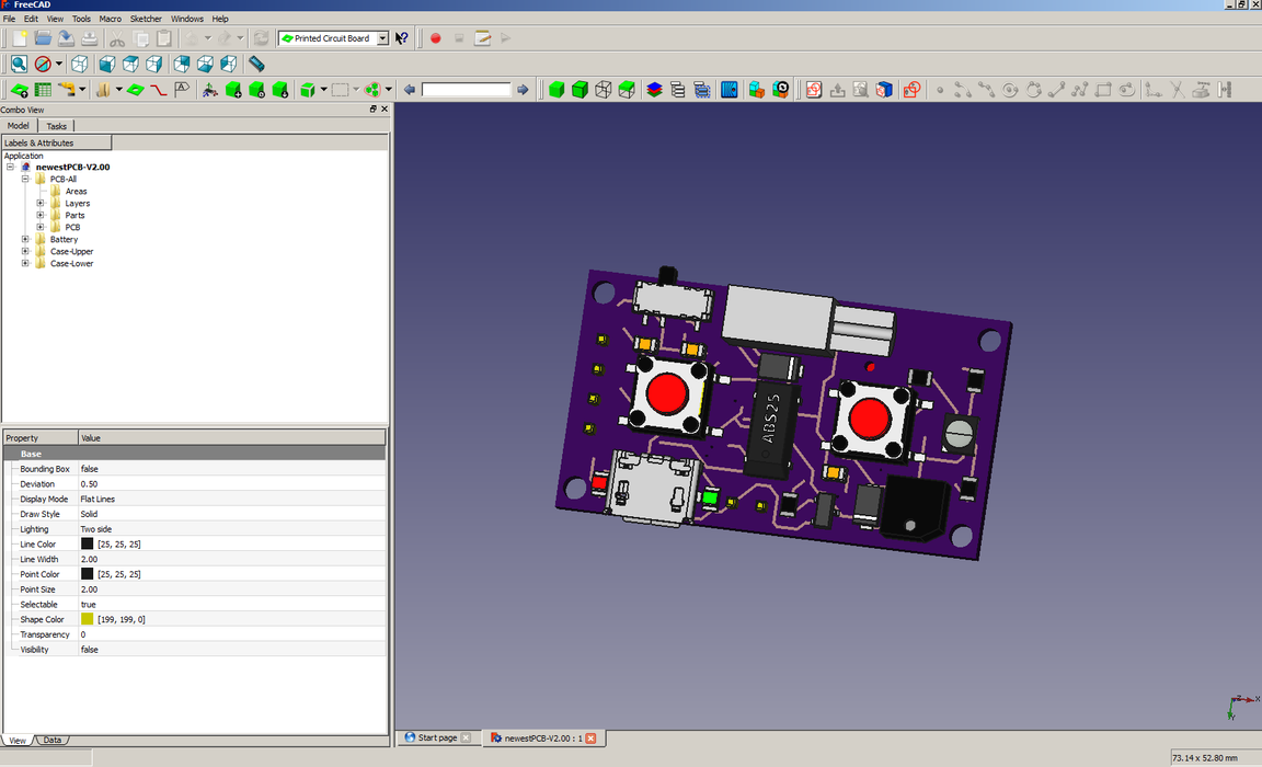 Engineeringprojects Here Are The Eagle Designs For Circuit Board Bottom Side Of After Being Imported Into Freecad Using